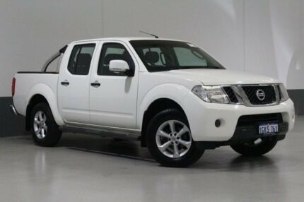 2013 Nissan Navara D40 MY12 ST (4x4) White 5 Speed Automatic Dual Cab Pick-up St James Victoria Park Area Preview