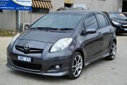 2010 Toyota Yaris YR-X NCP91R Grey 4 Speed Automatic Hatchback Redan Ballarat City Preview
