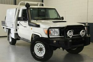 2012 Toyota Landcruiser VDJ79R MY10 Workmate White 5 Speed Manual Cab Chassis Blair Athol Port Adelaide Area Preview