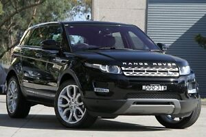 2015 Land Rover Evoque LV MY15 TD4 Prestige Black 9 Speed Automatic Wagon Petersham Marrickville Area Preview