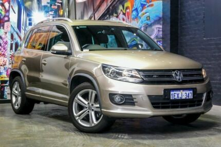 2015 Volkswagen Tiguan 5N MY15 132TSI DSG 4MOTION Champagne 7 Speed Sports Automatic Dual Clutch Perth Perth City Area Preview