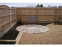 SAME DAY SERVICES GARDEN WORK PAVING DECKING INDIAN STONE FENCING WALLS DRIVEWAYS JETWASING TREES