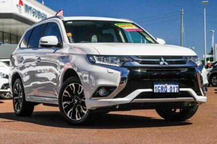 2017 Mitsubishi Outlander ZK MY17 PHEV AWD LS White 1 Speed Automatic Wagon Hybrid Cannington Canning Area Preview