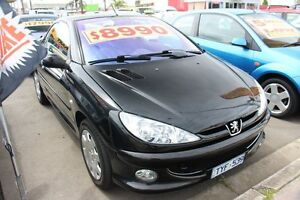 2005 Peugeot 206 T1 MY04 CC Black 5 Speed Manual Cabriolet Heatherton Kingston Area Preview