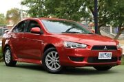 2012 Mitsubishi Lancer CJ MY12 Platinum Red 6 Speed Constant Variable Sedan Berwick Casey Area Preview