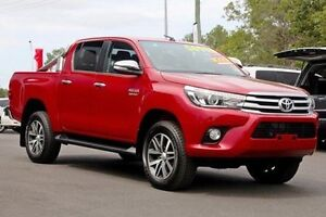 2016 Toyota Hilux GUN126R SR5 Double Cab Olympia Red 6 Speed Sports Automatic Utility Monkland Gympie Area Preview