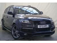 2013 Audi Q7 3.0 TDI QUATTRO S LINE PLUS 5d AUTO 245 BHP Diesel black Automatic