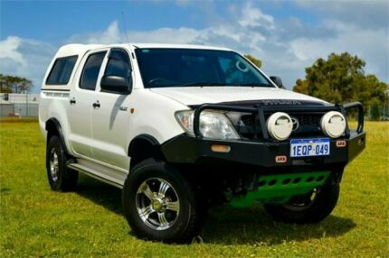 2009 Toyota Hilux GGN25R 09 Upgrade SR (4x4) White 5 Speed Manual Dual Cab Pick-up Greenfields Mandurah Area Preview