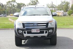 2012 Ford Ranger PX XLT Double Cab Silver 6 Speed Sports Automatic Utility Caboolture Caboolture Area Preview