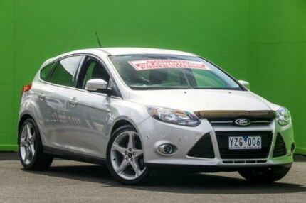 2012 Ford Focus LW Titanium PwrShift Silver 6 Speed Sports Automatic Dual Clutch Hatchback Ringwood East Maroondah Area Preview