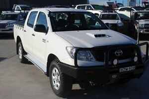 2011 Toyota Hilux KUN26R MY11 Upgrade SR (4x4) White 5 Speed Manual Dual Cab Pick-up South Maitland Maitland Area Preview