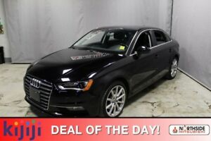 2016 Audi A3 PROGRESSIVE Navigation (GPS),  Leather,  Heated Se