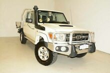 2014 Toyota Landcruiser VDJ79R MY13 GXL Double Cab White 5 Speed Manual Cab Chassis Edgewater Joondalup Area Preview