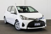 2016 Toyota Yaris NCP130R Ascent Glacier White 4 Speed Automatic Hatchback Myaree Melville Area Preview