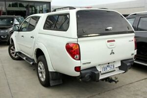 2014 Mitsubishi Triton MN MY15 GLX-R Double Cab White 5 Speed Manual Utility