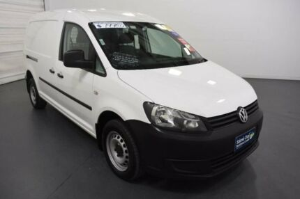 2012 Volkswagen Caddy 2K MY12 Maxi TDI250 White 7 Speed Auto Direct Shift Van Moorabbin Kingston Area Preview