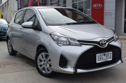 2015 Toyota Yaris NCP130R Ascent Silver 4 Speed Automatic Hatchback