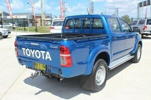 2013 Toyota Hilux KUN26R MY12 SR (4x4) Blue 4 Speed Automatic Dual Cab Pick-up South Maitland Maitland Area Preview