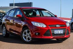 2013 Ford Focus LW MKII Trend PwrShift Red 6 Speed Sports Automatic Dual Clutch Hatchback East Rockingham Rockingham Area Preview