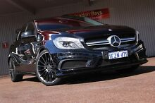 2014 Mercedes-Benz A45 W176 AMG SPEEDSHIFT DCT 4MATIC Black 7 Speed Sports Automatic Dual Clutch Hat Northbridge Perth City Preview