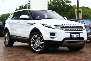 2012 Land Rover Range Rover Evoque L538 MY12 SD4 CommandShift Pure White 6 Speed Sports Automatic Osborne Park Stirling Area Preview