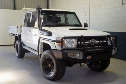 2014 Toyota Landcruiser VDJ79R GXL Double Cab White 5 Speed Manual Cab Chassis Prospect Prospect Area Preview