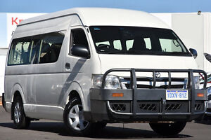 2012 Toyota Hiace KDH223R MY12 Commuter High Roof Super LWB French Vanilla 4 Speed Automatic Bus Glendalough Stirling Area Preview