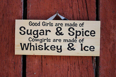 Sugar and Spice--Whiskey and Ice.... Wood Sign NEW