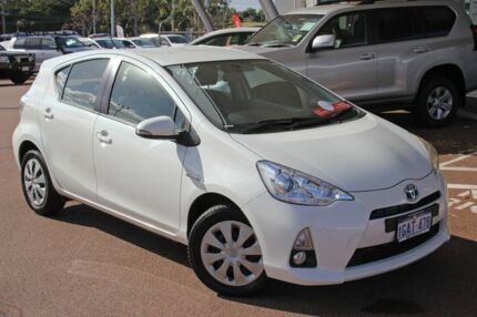 2013 Toyota Prius c NHP10R E-CVT White Mist 1 Speed Constant Variable Hatchback Hybrid Myaree Melville Area Preview