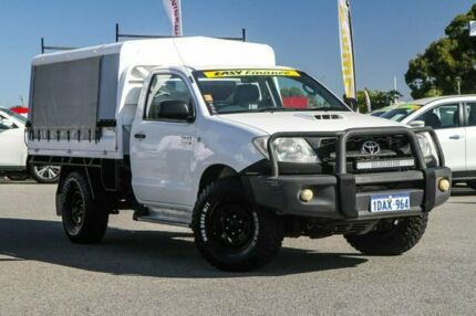 2008 Toyota Hilux KUN26R MY08 SR White 5 Speed Manual Cab Chassis Cannington Canning Area Preview