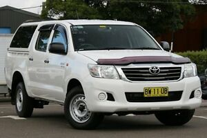 2013 Toyota Hilux GGN15R MY12 SR White 5 Speed Automatic Cab Chassis Dee Why Manly Area Preview