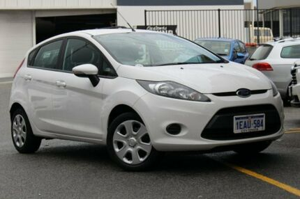 2012 Ford Fiesta WT CL PwrShift White 6 Speed Sports Automatic Dual Clutch Hatchback Northbridge Perth City Preview