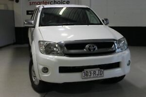 2010 Toyota Hilux GGN15R SR5 White 5 Speed Automatic 4x4 Utility