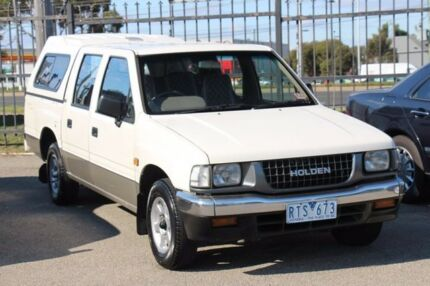 1995 Holden Rodeo TF DLX Crew Cab White 5 Speed Manual Utility