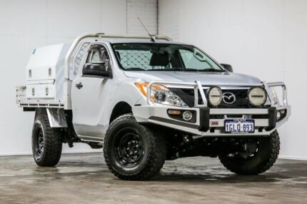 2014 Mazda BT-50 UP0YF1 XT Silver 6 Speed Sports Automatic Cab Chassis Welshpool Canning Area Preview