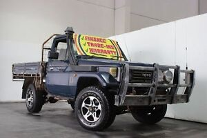 1991 Toyota Landcruiser HZJ75RP (4x4) Blue 5 Speed Manual 4x4 Cab Chassis Underwood Logan Area Preview