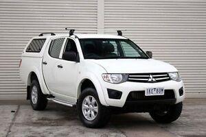 2014 Mitsubishi Triton MN MY15 GLX Double Cab White 4 Speed Sports Automatic Utility Seaford Frankston Area Preview