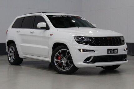 jeep 2014 srt8 white. 2014 jeep grand cherokee wk my14 srt 8 4x4 white speed automatic wagon srt8