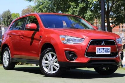 2013 Mitsubishi ASX XB MY14 2WD Red 6 Speed Constant Variable Wagon