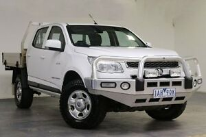 2013 Holden Colorado RG MY13 LX Crew Cab White 5 Speed Manual Cab Chassis Southbank Melbourne City Preview