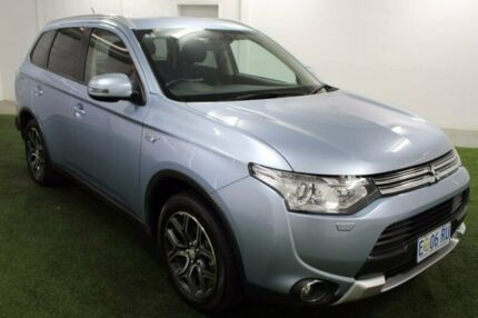 2014 Mitsubishi Outlander ZJ MY14.5 PHEV AWD Blue 1 Speed Automatic Wagon Hybrid Moonah Glenorchy Area Preview