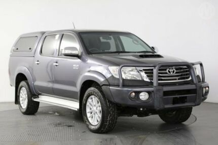 2012 Toyota Hilux KUN26R MY12 SR5 (4x4) Charcoal 4 Speed Automatic Dual Cab Pick-up Eagle Farm Brisbane North East Preview
