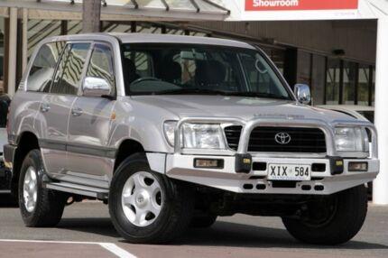 2001 Toyota Landcruiser HDJ100R GXL Silver 4 Speed Automatic Wagon Christies Beach Morphett Vale Area Preview
