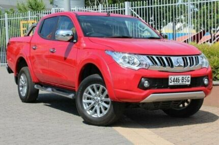 2015 Mitsubishi Triton MQ MY16 GLS Double Cab Red 6 Speed Manual Utility Wayville Unley Area Preview