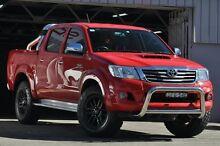 2013 Toyota Hilux KUN26R MY12 SR5 (4x4) Red 5 Speed Manual Dual Cab Pick-up Mosman Mosman Area Preview