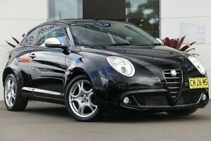 2012 Alfa Romeo Mito MY12 Distinctive TCT Black 6 Speed Sports Automatic Dual Clutch Hatchback Gymea Sutherland Area Preview