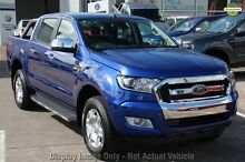 2016 Ford Ranger PX MkII XLT Double Cab Aurora Blue 6 Speed Manual Utility Dandenong Greater Dandenong Preview