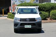 2017 Toyota Hilux GUN122R Workmate 4x2 White 5 Speed Manual Cab Chassis Acacia Ridge Brisbane South West Preview