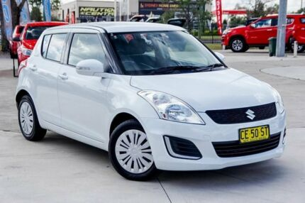 2015 Suzuki Swift FZ MY15 GL White 5 Speed Manual Hatchback Penrith Penrith Area Preview