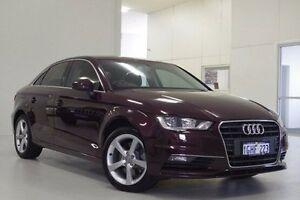 2014 Audi A3 8V MY14 Ambition S tronic Red 7 Speed Sports Automatic Dual Clutch Sedan Myaree Melville Area Preview